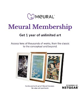 Meural - Canvas Annual Membership Card for Digital Picture Frame Art
