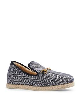 Gucci - Men's Herringbone Wool Loafers