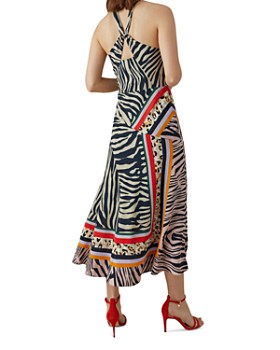 KAREN MILLEN - Zebra Scarf-Print Midi Dress