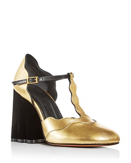Marni - Women's Mary Jane T-Strap Block-Heel Pumps