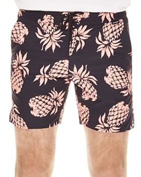 Sandro - Pacific Pineapple Print Swim Shorts