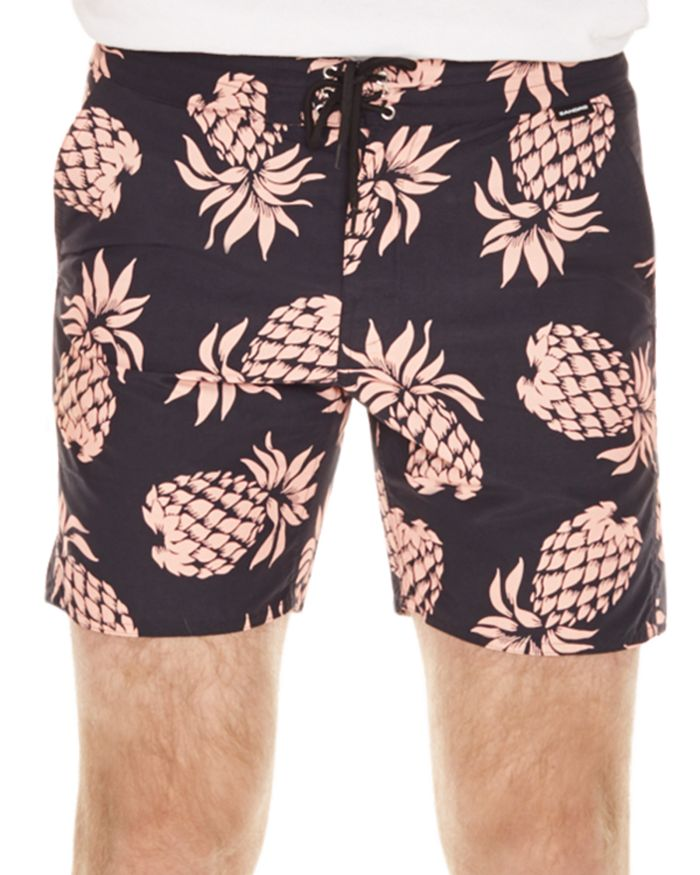 Sandro - Pacific Pineapple Print Swim Shorts