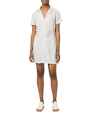 French Connection Laiche Striped Button-Down Shirt Dress