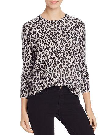 AQUA - Leopard-Pattern Cashmere Sweater - 100% Exclusive