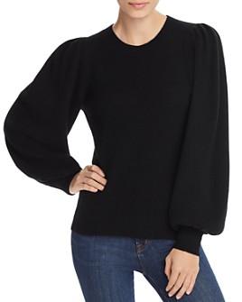 AQUA - Puff-Sleeve Cashmere Sweater - 100% Exclusive