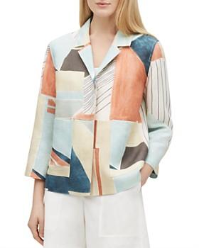 4e18d4667902 Lafayette 148 New York - Layken Abstract-Print Linen Jacket ...