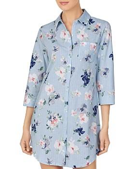Ralph Lauren - Pinstriped Floral Sleepshirt