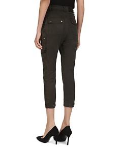 The Kooples - Cropped Slim-Leg Utility Pants