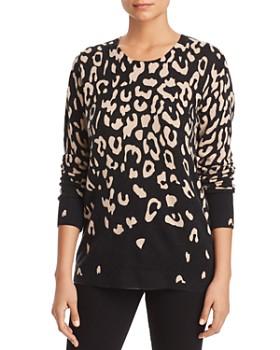 C by Bloomingdale's - Degradé Leopard Print Cashmere Sweater - 100% Exclusive