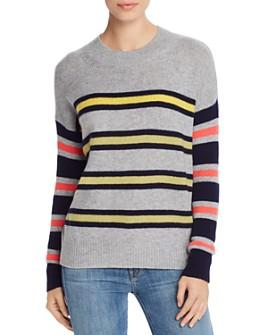 AQUA - Mixed-Stripe Cashmere Sweater - 100% Exclusive