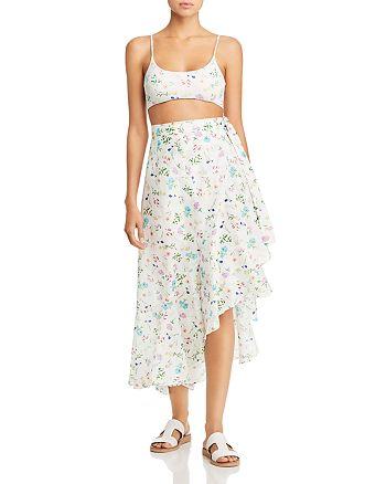 Paper London - Sunshine Bikini Top, Sunshine Bikini Bottom & Lagos Silk Wrap Skirt