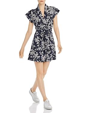 French Connection Rishiri Floral-Print Jersey Mini Dress
