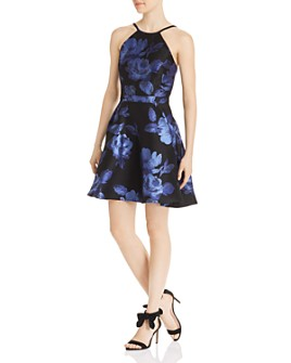 Avery G - Floral Brocade Party Dress