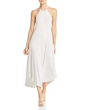 Elan - Striped High-Neck Midi Dress