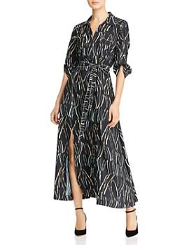 Donna Karan - Printed Button-Down Maxi Dress