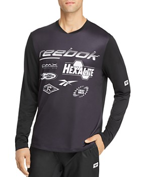 Reebok - Classic Long-Sleeve Color-Block Graphic Tee