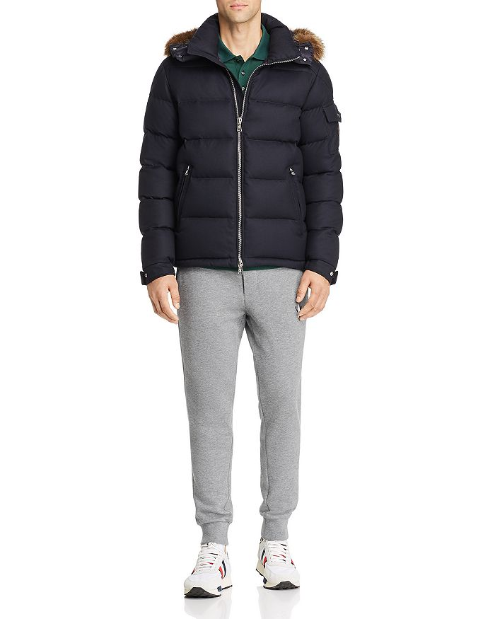 Moncler - Allemand Fur-Trimmed Wool Down Jacket, Maglia Basic Flag Regular Fit Polo Shirt, and Logo Graphic Sweatpants