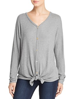 Cupio - Button & Tie Front Top
