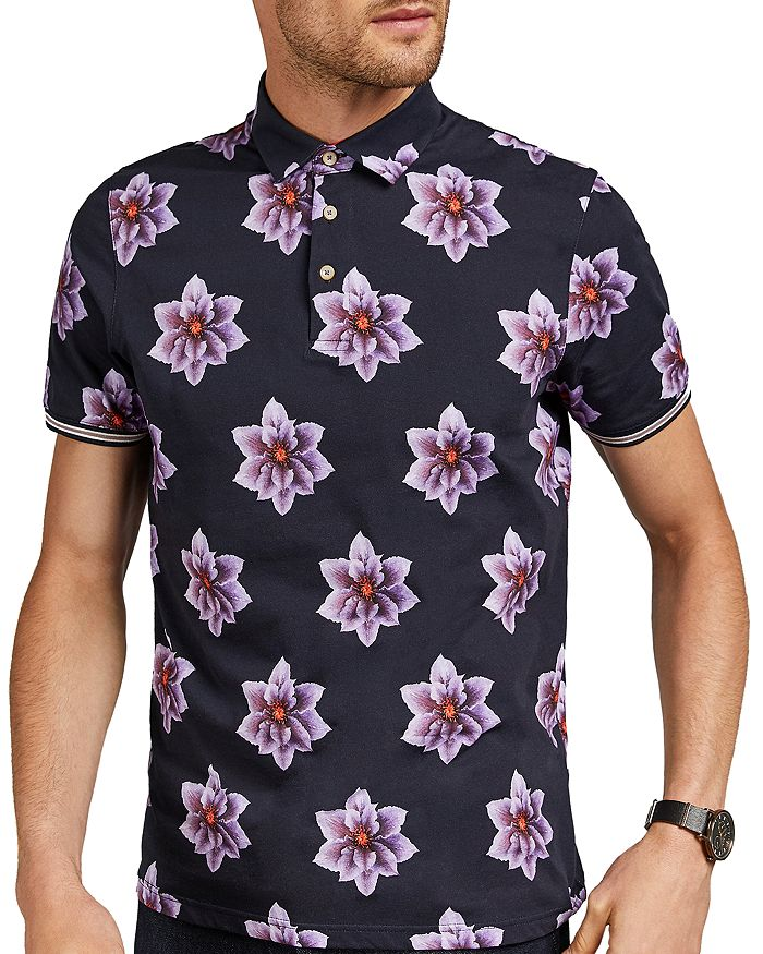Ted Baker - Nelso Floral Print Regular Fit Polo Shirt