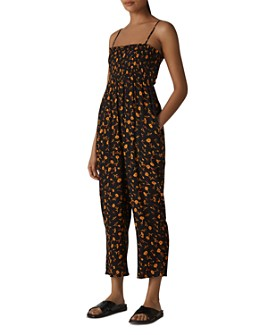Whistles - Aster Floral Textured Jumpsuit