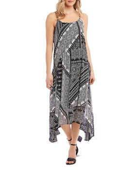Karen Kane - Mixed Bandana Print Midi Dress