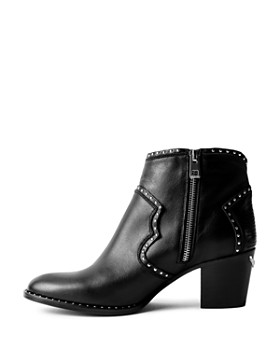 Zadig & Voltaire - Women's Molly Studded Western Ankle Boots