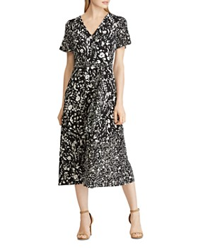 Ralph Lauren - Floral-Print Faux-Wrap Midi Dress