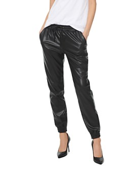 MICHAEL Michael Kors - Faux-Leather Jogger Pants