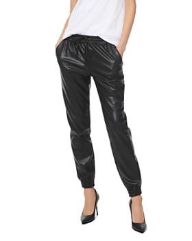 MICHAEL Michael Kors - Faux-Leather Jogger Pants