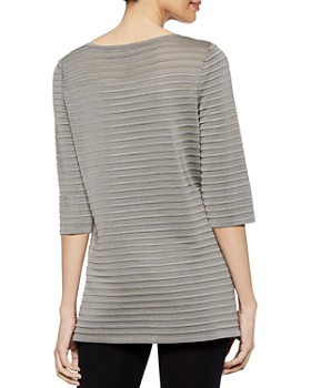 Misook - Ribbed Knit Tunic Top