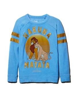 CHASER - Girls' Disney Hakuna Matata Sweatshirt, Little Kid, Big Kid - 100% Exclusive