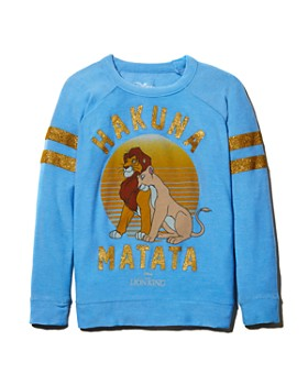CHASER - Girls' Disney Hakuna Matata Sweatshirt, Little Kid, Big Kid - 100% Exclusive