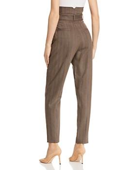 Equipment - Alloisa Striped Paperbag-Waist Pants