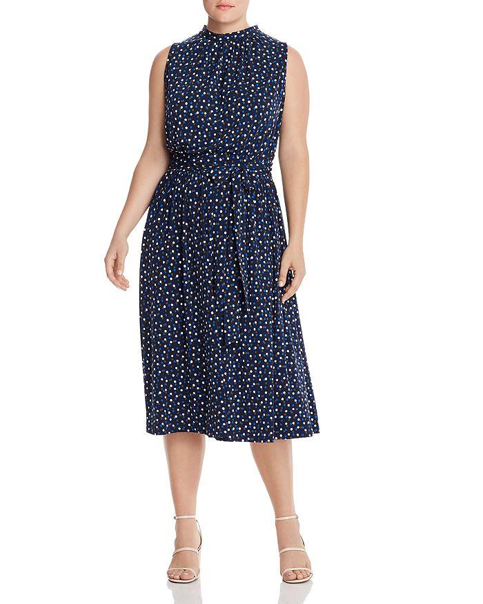 Leota Plus - Mindy Sleeveless Dot-Print Dress