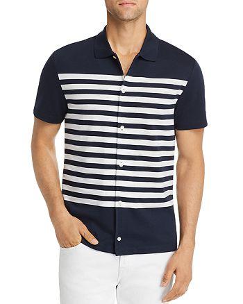 Michael Kors - Short-Sleeve Striped Classic Fit Shirt