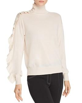 Sandro - Eleen Ruffle-Detail Wool Sweater - 100% Exclusive