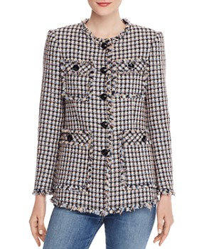Rebecca Taylor - Houndstooth Tweed Jacket