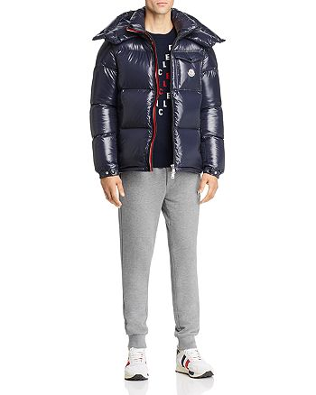 Moncler - Montbeliard Down Jacket, Allover-Logo Wool Sweater, and Logo Graphic Sweatpants