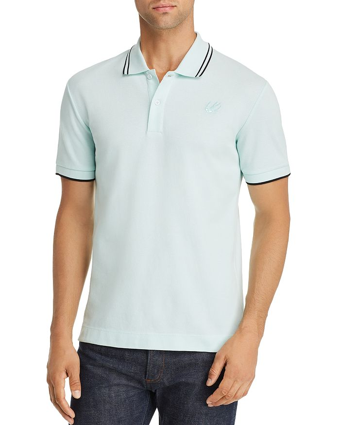 McQ Alexander McQueen - Tipped Piqué Slim Fit Polo Shirt