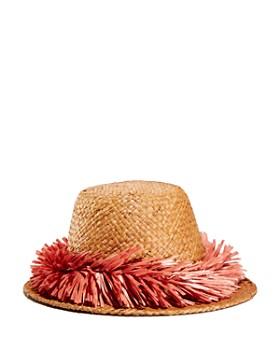 Gigi Burris Millinery - Sunrise Raffia-Trim Straw Hat