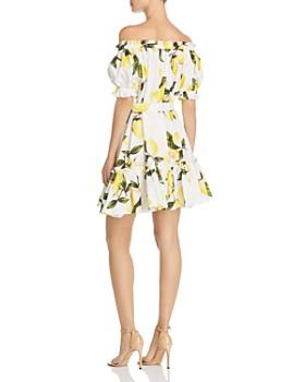 AQUA - Off-the-Shoulder Lemon Print Dress - 100% Exclusive