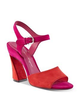 Salvatore Ferragamo - Women's Curved Block Heel Sandals