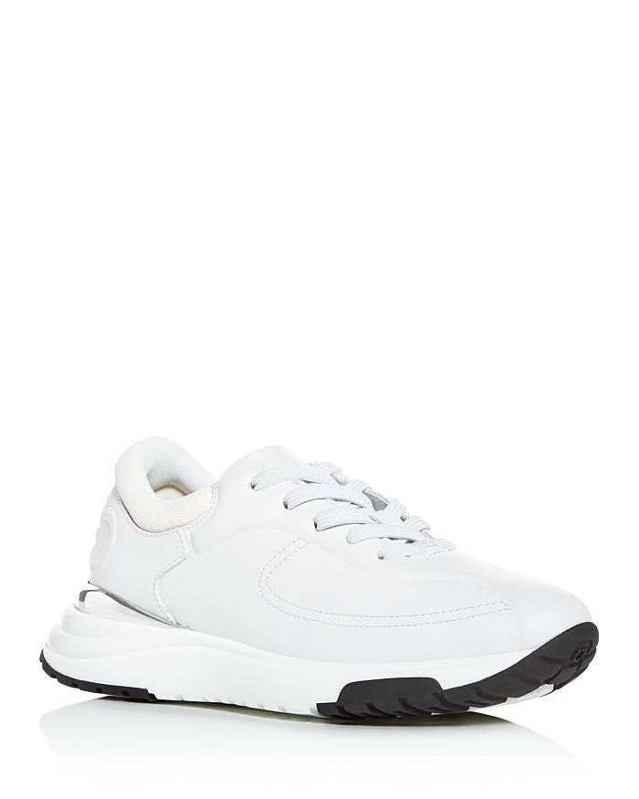 Salvatore Ferragamo Women's Tuli Low Top Sneakers In Bianco