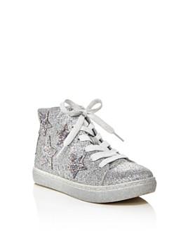 STEVE MADDEN - Girls' Jaustinn Glitter Star High-Top Sneakers - Little Kid, Big Kid