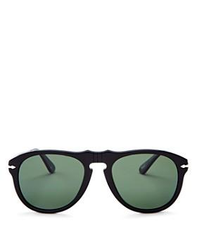 Persol - Men's Polarized Round Sunglasses, 54mm