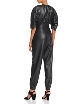 Rebecca Taylor - Zip-Front Vegan Leather Jumpsuit