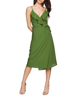 1.STATE - Ruffled Faux-Wrap Dress
