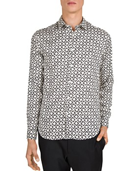 The Kooples - Graphic Weaving Regular Fit Shirt
