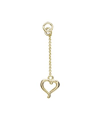AQUA - Dangling Heart Charm in 18K Gold-Plated Sterling Silver or Sterling Silver - 100% Exclusive