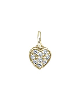 AQUA - Sparkly Heart Charm in 18K Gold-Plated Sterling Silver or Sterling Silver - 100% Exclusive